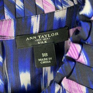 Ann Taylor Tops - Ann Taylor Silk Ruffle Neck Tank
